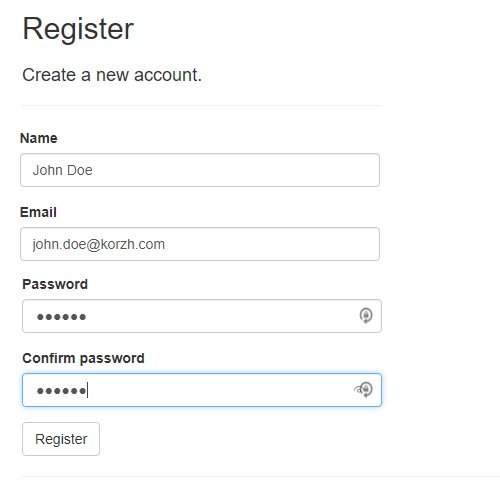 Registration form with ContactName field